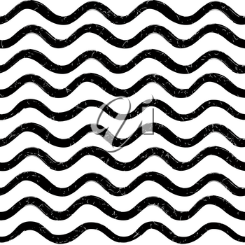 Abstract wave seamless pattern. Stylish geometric background. Wavy line ornamental wallpaper.  Water wave line stripe texture