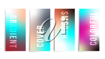 Set of colorful gradient background for printing products, web banner, card, flyer, poster or cover brochure. Vector illustration.