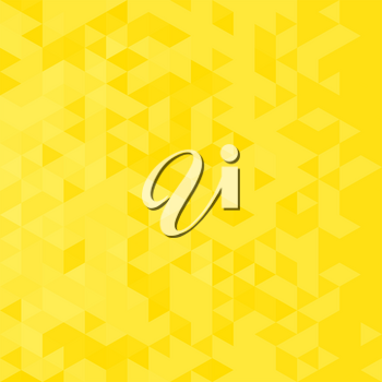 Abstract background with yellow triangles. Polygonal design. Vector illustration.