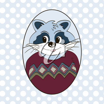 Raccoon in jersey. Picture for clothes, cards, children's books