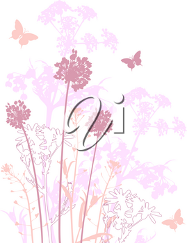 floral background with pink flowers