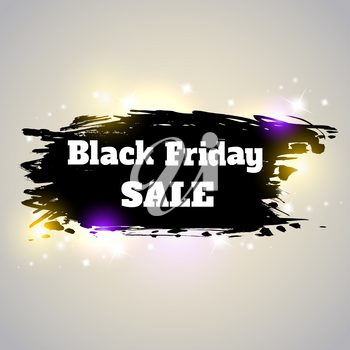 Abstract shining background for Black Friday sale.