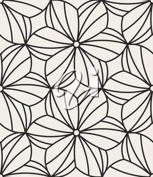 Decorative geometrical floral seamless pattern.  Traditional oriental ornamental background with flowers. Vector illustration.