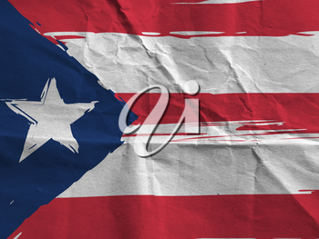 Grunge PUERTO RICO flag or banner