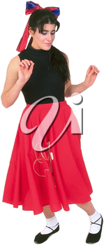 Royalty Free Clipart Image of a Woman Dancing
