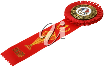 Royalty Free Photo of a First Place Hockey Ribbon