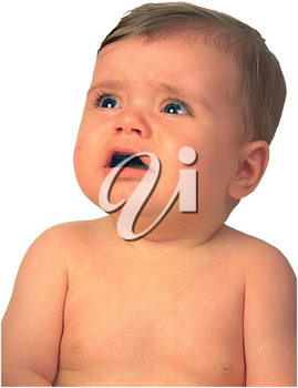 Royalty Free Photo of an Upset Infant Child