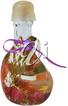 Royalty Free Photo of a Decorative Bottle of Bath Oil