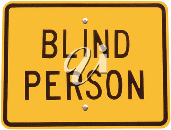Royalty Free Photo of a Sign Blind Person