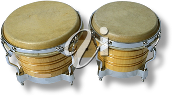 Royalty Free Photo of a Set of Bongo Drums