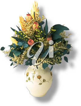Royalty Free Photo of a Vase of Fresh Flowers