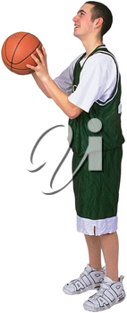 Royalty Free Photo of a Basketball Player