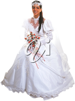 Royalty Free Photo of a Bride Sitting
