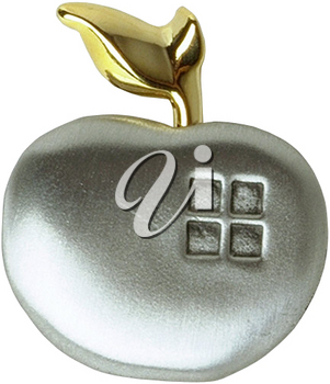 Royalty Free Photo of an Apple Brooch