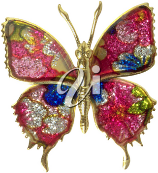 Royalty Free Photo of a Butterfly Brooch