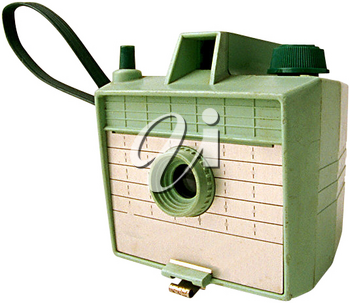 Royalty Free Photo of a Vintage Green Camera