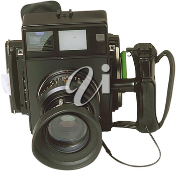 Royalty Free Photo of an Instant Picture Camera with Flash
