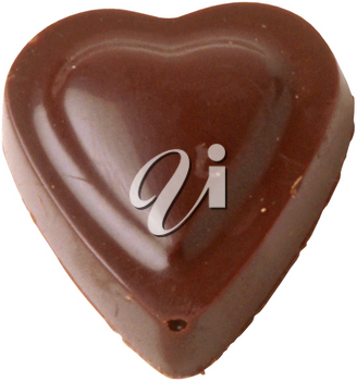 Royalty Free Photo of a Heart Shaped Chocolate