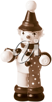 Royalty Free Photo of a Wooden Toy Clown