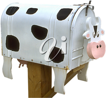 Royalty Free Photo of a Cow Mailbox