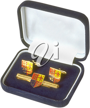 Royalty Free Photo of Cufflinks in a Gift Box