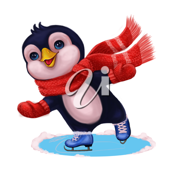 Mascot Element for Greeting or Post Card, Banner, Gift Card, Poster, Booklet or Children's Book