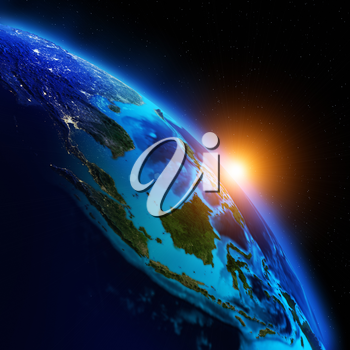 Planet Earth. Elements of this image furnished by NASA 3d rendering