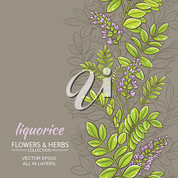 licorice plant vector pattern on color background