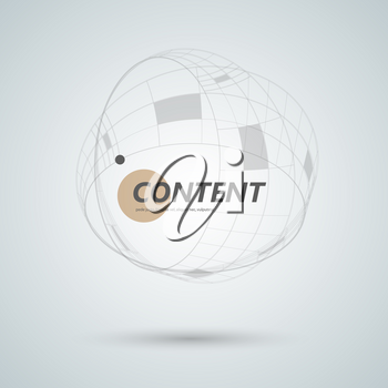 Abstract connect circle design background. Creative abstract shapes.
