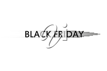 Black Friday Speed icon on the white background, Vector