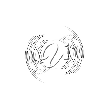 Isolated speed lines. The effect of movement to your design. Black lines on a transparent background.The flying particles.vector illustration.The movement forward.
