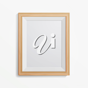 Realistic Photo Frame Vector. With Soft Shadow. For Your Presentations.