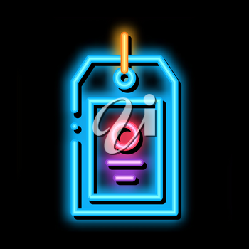 Label Tag neon light sign vector. Glowing bright icon Label Tag sign. transparent symbol illustration