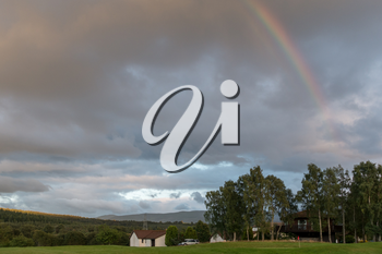 Sunset and rainbow over Spey Valley Golf and Country Club