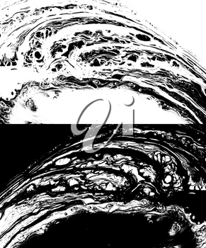 Abstract marble texture in black and white as grunge background.
