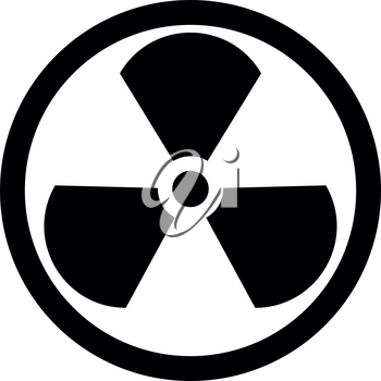 Sign radioactive it is the black color icon .