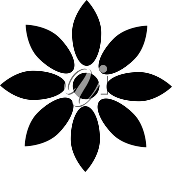 Flower black it is black color icon .