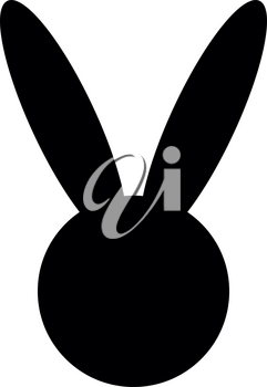 Hare or rabbit head  it is the black color icon .
