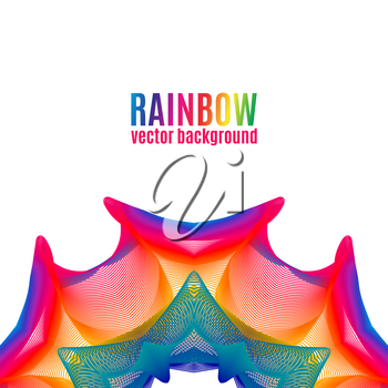 Rainbow Star vector background. Abstract colorful illustration for your business