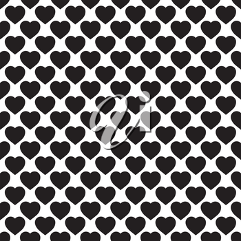 Monochrome seamless pattern with hearts. Texture for scrapbooking, wrapping paper, textiles, home decor, skins smartphones backgrounds cards, website, web page, textile wallpapers, surface design, fashion, wallpaper, pattern fills.