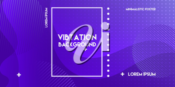 Fluid Abstract colorful banner with gradient shapes and blur background. Minimal Violet, purple layout backdrop for futuristic poster, dynamic banner, mobile app screen. Vector graphic design template