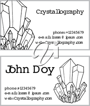 black white business cards in crystallography Doodle