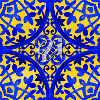 Portuguese azulejo tiles. Blue and white gorgeous seamless patterns. For scrapbooking, wallpaper, cases for smartphones, web background, print, surface texture, pillows, towels, linens bags T-shirts