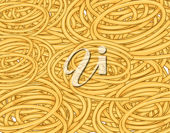 Tangled spaghetti .Seamless waves hand drawn pattern, Waves background