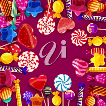 Candy background set of different colors of candy, candy, sweets, candy, jelly beans