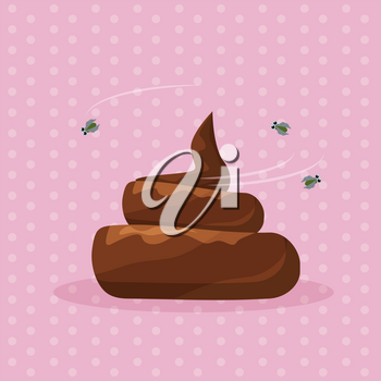 Vector illustration of a shit. The image is isolated from the background