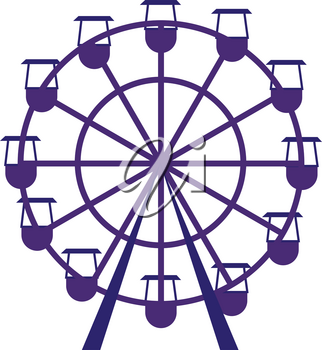 Purple carousel vector illustration on white background.