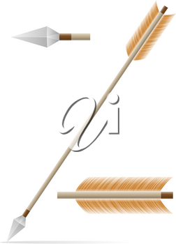 arrow for bow shooting stock vector illustration isolated on white background