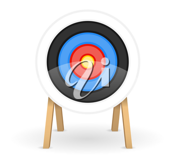 target for shooting arrow bow stock vector illustration isolated on white background