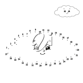 Dot to dot. Draw a line. Handwriting practice. Learning numbers for kids. Education developing worksheet. Activity coloring page. Funny game. Isolated vector illustration. Cartoon style. With answer.
